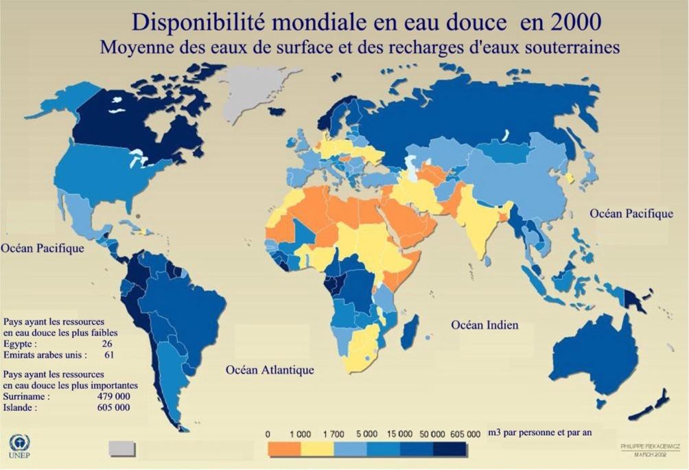 Disponibilité mondiale en eau douce