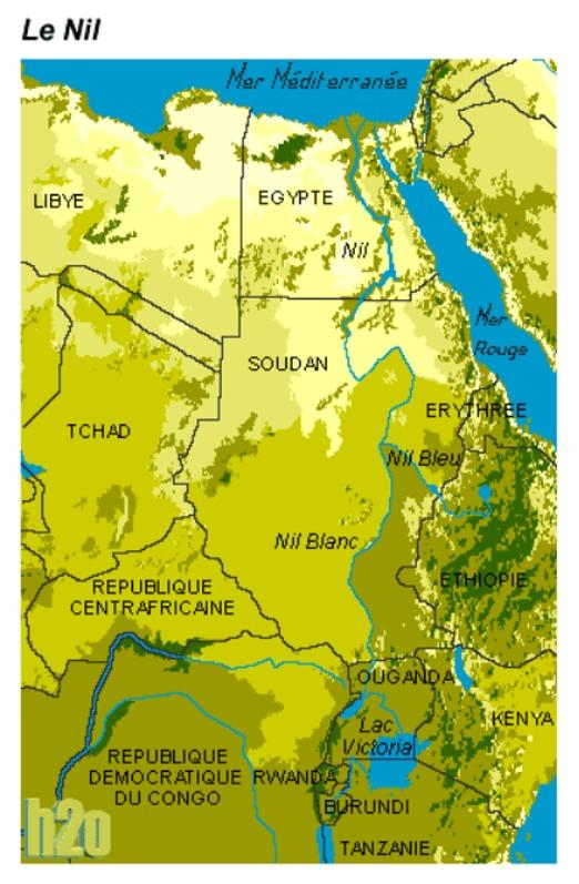 Le Nil, situation géographique