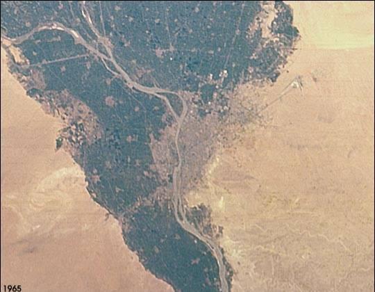 Urbanisation du delta en 1965