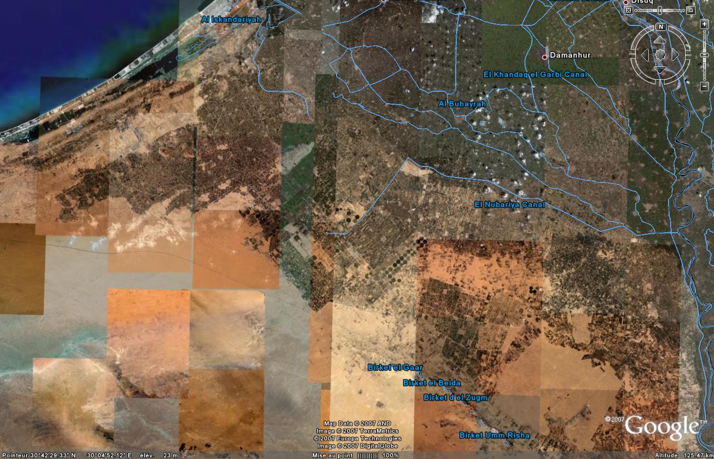 Les marges du delta du Nil