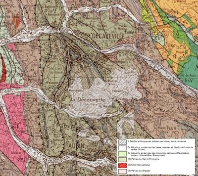 Decazeville géologie légende